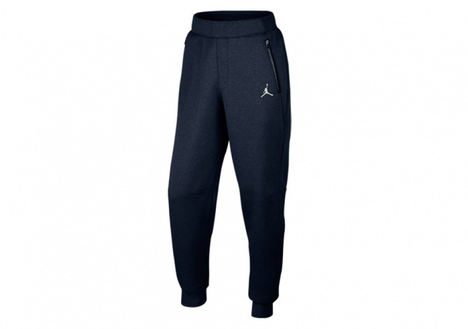 NIKE AIR JORDAN FLEECE PANTS OBSIDIAN HEATHER