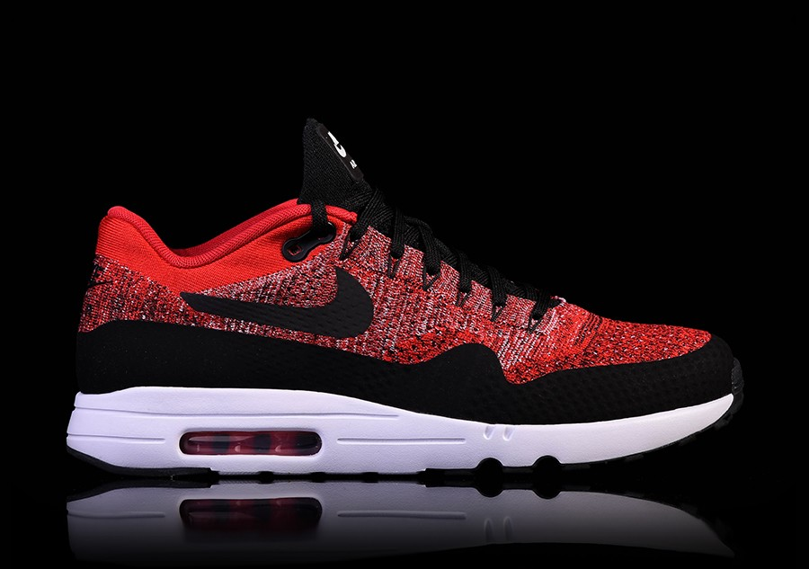 nike air max 1 flyknit biały red