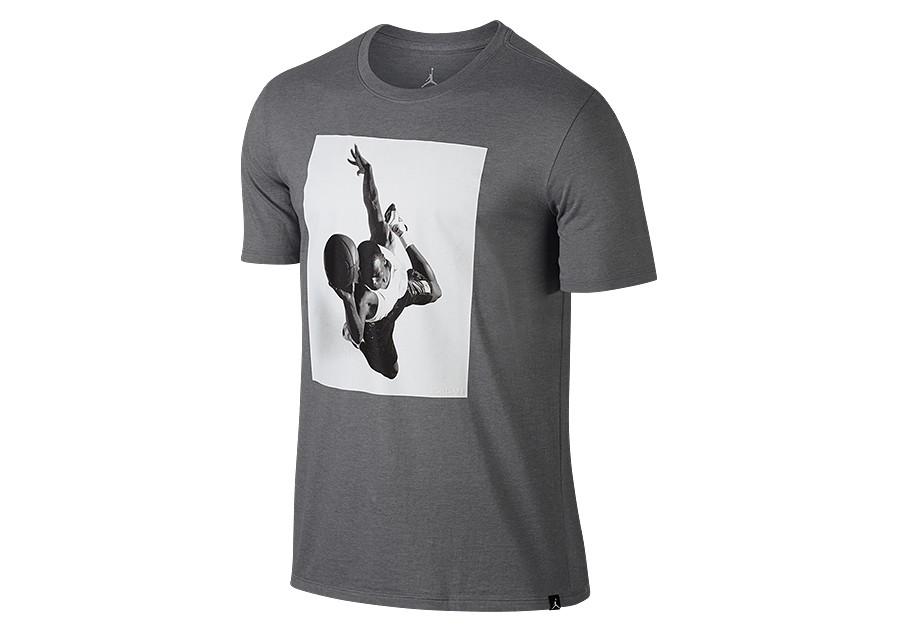 CARBON HEATHER NEW 862435 091 Men/'s JORDAN SPORTSWEAR FLIGHT HERITAGE T-Shirt !