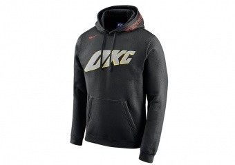 NIKE NBA OKLAHOMA CITY THUNDER HOODIE BLACK