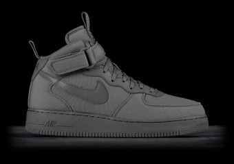 NIKE AIR FORCE 1 MID '07 CANVAS DARK STUCCO