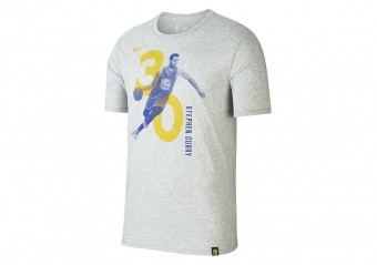 NIKE NBA STEPHEN CURRY GOLDEN STATE WARRIORS DRY TEE DARK GREY HEATHER