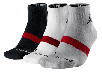 AIR JORDAN DRI-FIT LOW QUARTER 3PK SOCKS