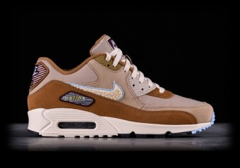 Nike Air Max 90 Leather Men's Shoes BlackMedium Olive