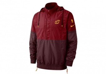 NIKE NBA CLEVELAND CAVALIERS COURTSIDE JACKET TEAM RED
