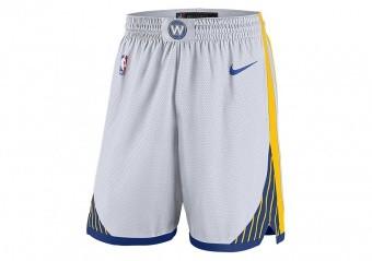 NIKE NBA GOLDEN STATE WARRIORS SWINGMAN HOME SHORTS WHITE