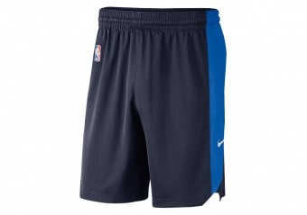 NIKE NBA OKLAHOMA CITY THUNDER PRACTICE SHORTS COLLEGE NAVY