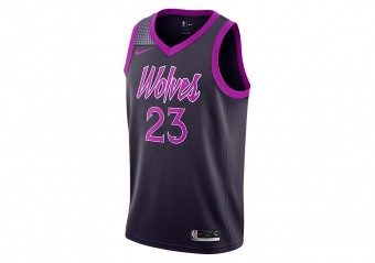NIKE NBA MINNESOTA TIMBERWOLVES JIMMY BUTLER SWINGMAN JERSEY PURPLE DYNASTY