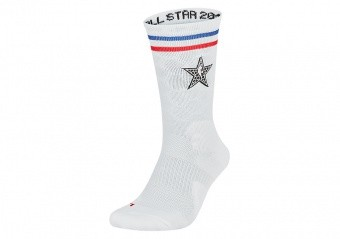 NIKE NBA ALL STAR ELITE CREW SOCKS WHITE
