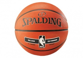SPALDING NBA SILVER OUTDOOR (SIZE 5) ORANGE