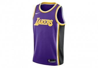 NIKE NBA LOS ANGELES LAKERS SWINGMAN JERSEY FIELD PURPLE