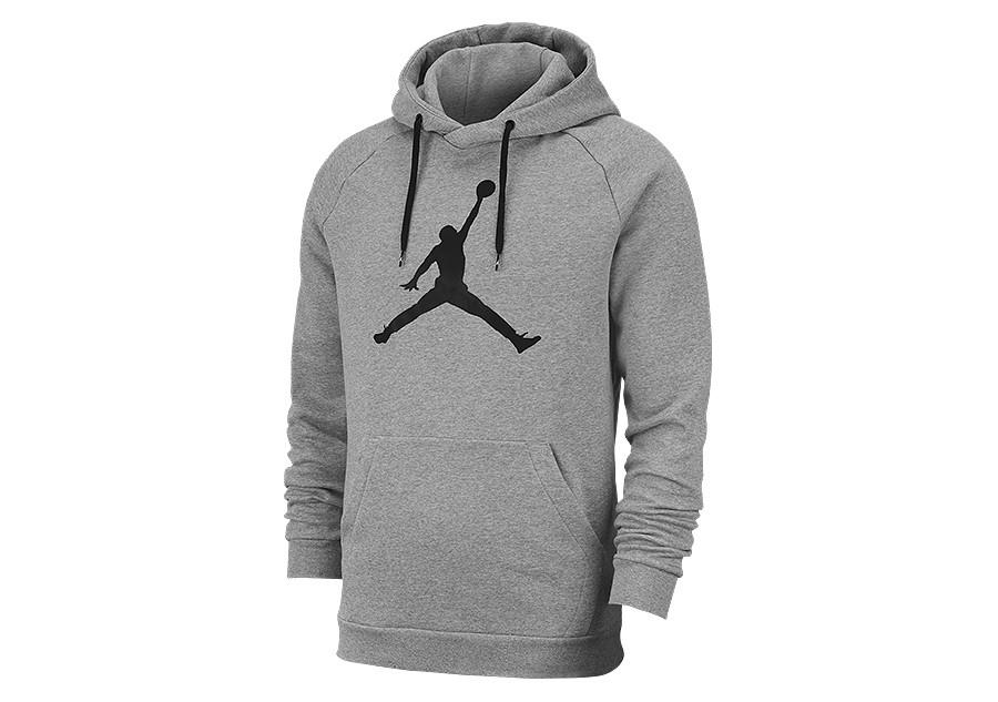 nike air jordan jumpman logo hoodie carbon heather