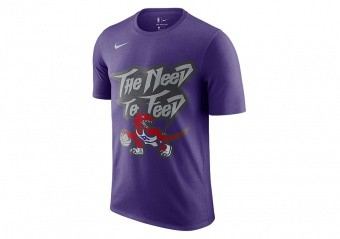 NIKE NBA TORONTO RAPTORS CLASSIC TEE COURT PURPLE