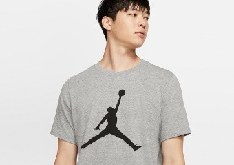 NIKE AIR JORDAN JUMPMAN TEE CARBON HEATHER