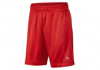 NIKE AIR JORDAN BASKETBALL PRACTICE SHORTS TEAM SCARLET