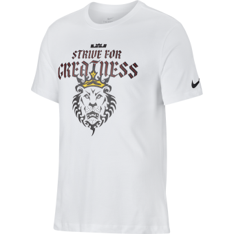NIKE LEBRON 'STRIVE FOR GREATNESS' LION TEE
