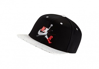 NIKE AIR JORDAN PRO JUMPMAN CLASSICS CEMENT HAT BLACK WHITE