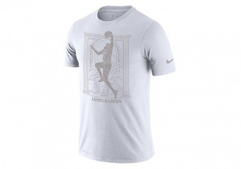 NIKE NBA JAMES HARDEN MVP DRI-FIT TEE WHITE