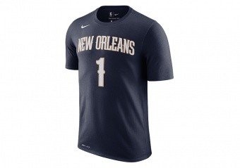 NIKE NBA NEW ORLEANS PELICANS ZION WILLIAMSON DRI-FIT TEE COLLEGE NAVY