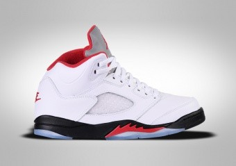 NIKE AIR JORDAN 5 RETRO TD FIRE RED SILVER TONQUE