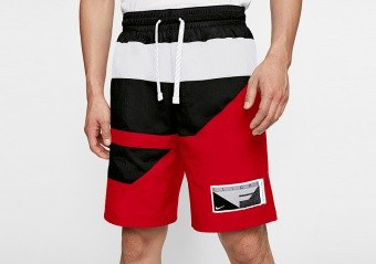NIKE FLIGHT SHORTS UNIVERSITY RED