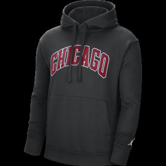 NIKE NBA CHICAGO BULLS STATEMENT EDITION PULLOVER FLEECE HOODIE