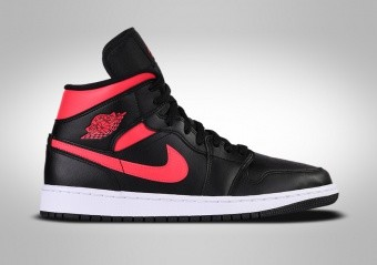 NIKE AIR JORDAN 1 RETRO MID WMNS BLACK SIREN RED