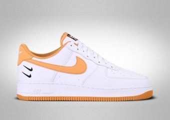 NIKE AIR FORCE 1 LOW '07 DOUBLE SWOSH WHITE LIGHT GINGER