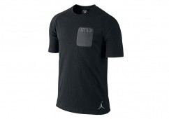 NIKE AIR JORDAN POCKET TEE BLACK